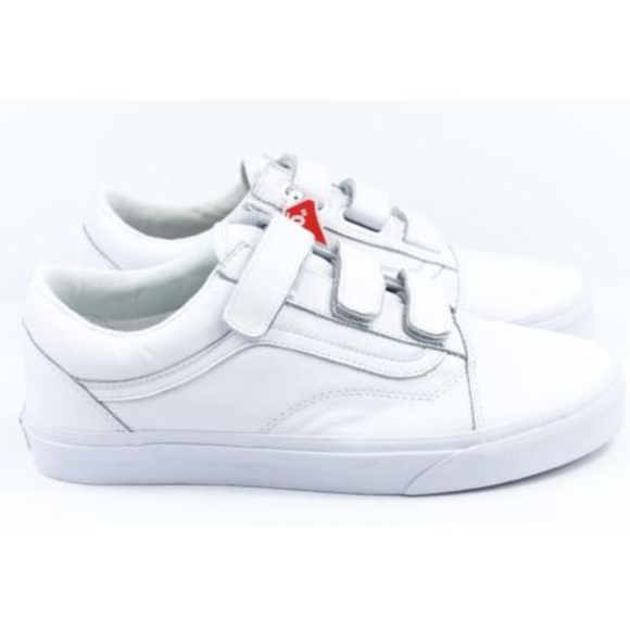1f3b06fe1c3 Vans Old Skool V Mono Leather Mens Size 11 White
